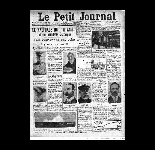 Le Petit Journal - Titanic - 17th April 1912