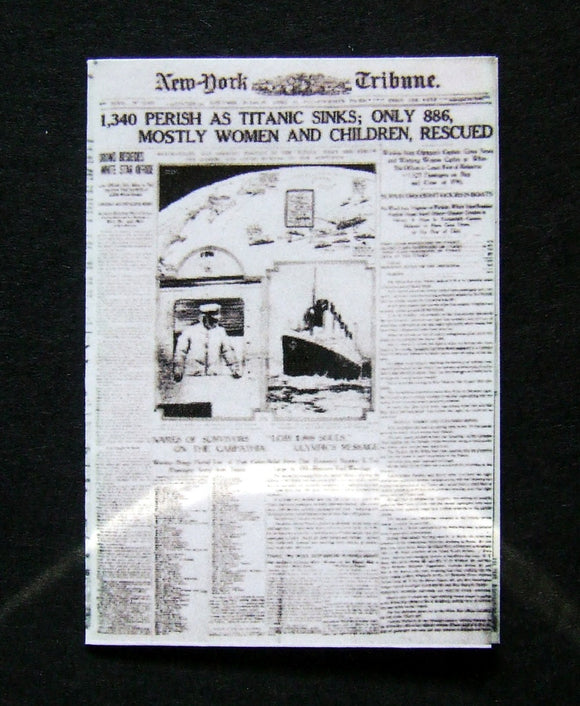 New York Tribune - Titanic - 16th April 1912