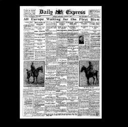 Daily Express - preparations for war - 1st August 1914