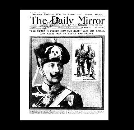 Daily Mirror - Germany declares war - 3rd August 1914