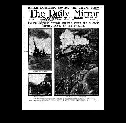 Daily Mirror - Belgium responds - 6th August 1914