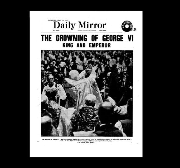 Daily Mirror - Coronation of George VI - 13th May 1937