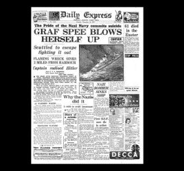 Daily Express - sinking of Graf Spee - 1939