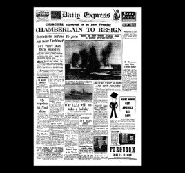 Daily Express - Chamberlain resigns - 10th May 1940