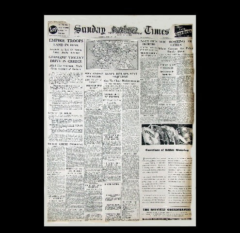 Sunday Times - War in the middle-east 1941
