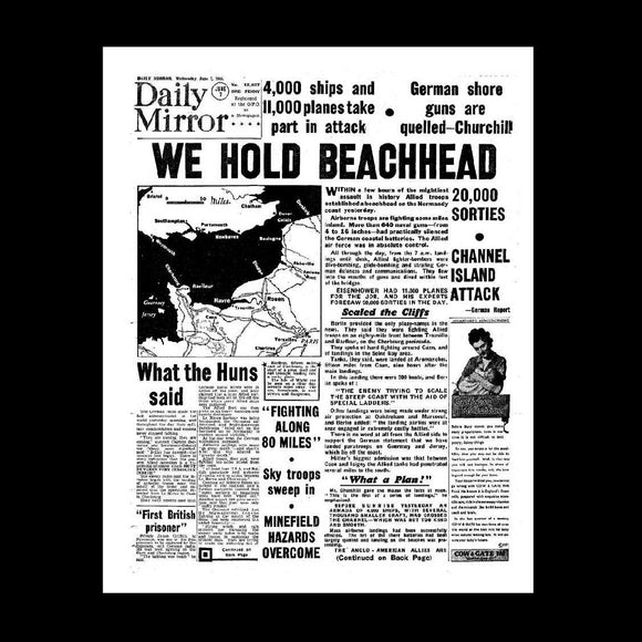 Daily Mirror - D-Day - 7th June 1944