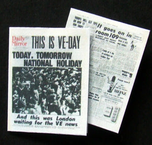 Daily Mirror - VE Day - 8th May 1945