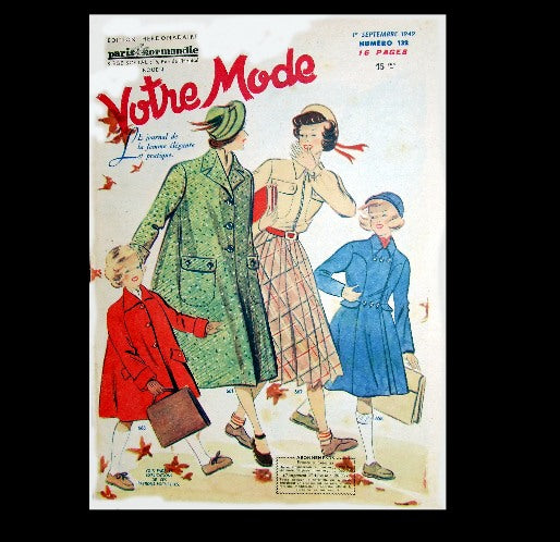 Votre Mode - French Fashion Magazine - 1949