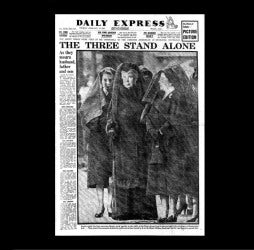 Daily Express - death of George VI - 12th February 1952