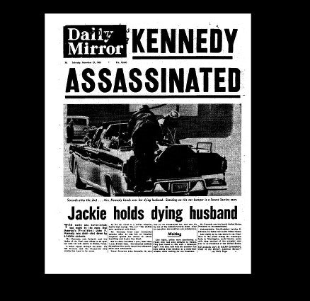 Daily Mirror - assassination of J F K - 1963