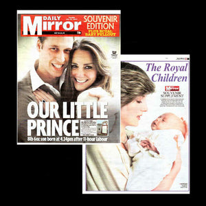 Daily Mirror - birth of Prince George - includes pull-out colour supplement - 23th July 2013