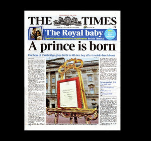 Times - birth of Prince George - 23rd July 2013