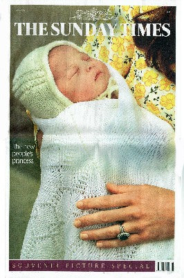 Sunday Times - Birth of Princess Charlotte - 2015
