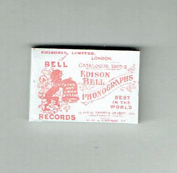 Edison phonograph catalogue