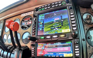 Flying to NBAA & CloseUp Avidyne IFD550 Inflight!
