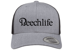 Beechlife Trucker Hat - Heather Grey / Black