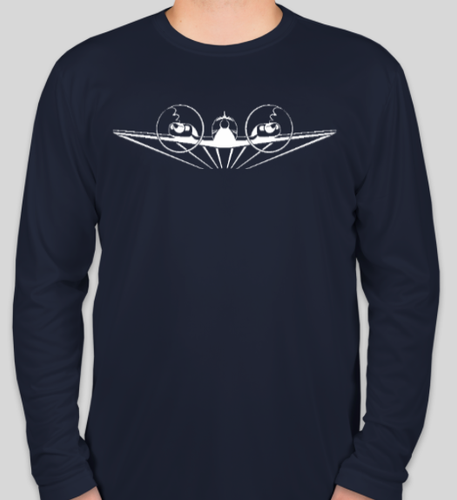 Navy Wicking Baron Pilot Long Sleeve Shirt