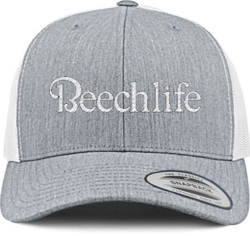 Beechlife Trucker Hat - Heather Grey / White