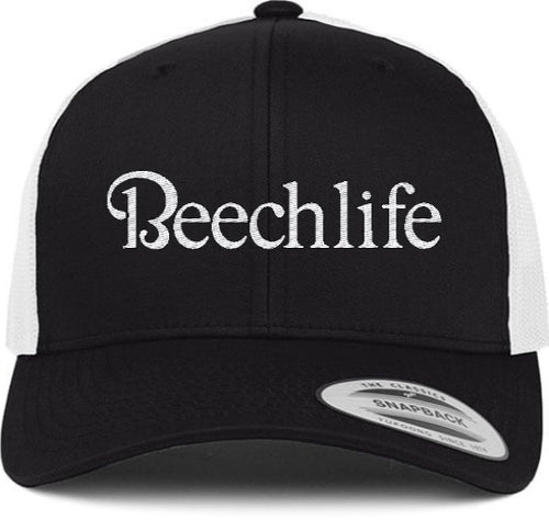 Beechlife Trucker Hat - Black / White