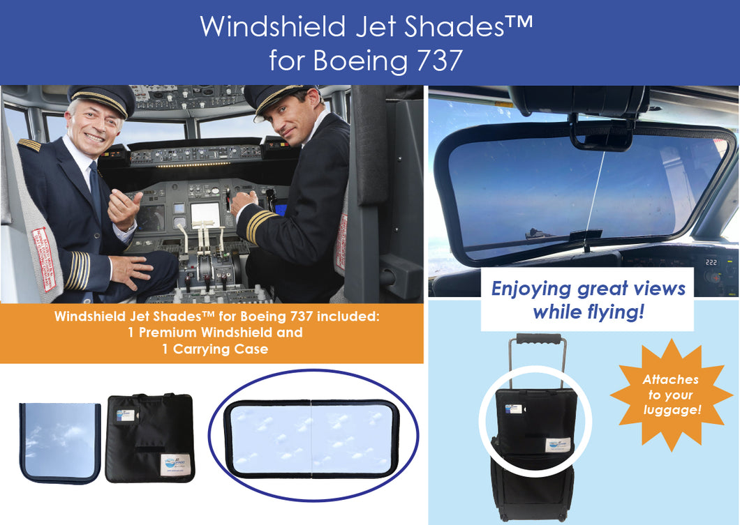 Jet Shades™ Commercial Pilot Solutions for Boeing 737 Pilots