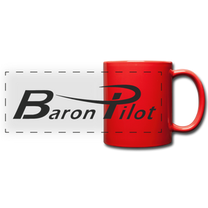 Baron Pilot Panoramic Mug - red