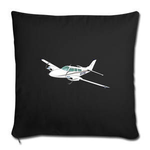 3175W Throw Pillow Cover - black
