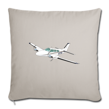 3175W Throw Pillow Cover - light grey