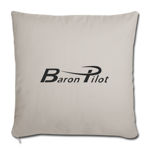 Baron Pilot Throw Pillow Cover - light grey