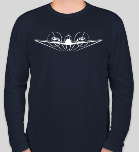 Navy Cotton Baron Pilot Long Sleeve Shirt