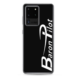 Black Baron Pilot Samsung (All S20, S9 Versions) Phone Case - White Font