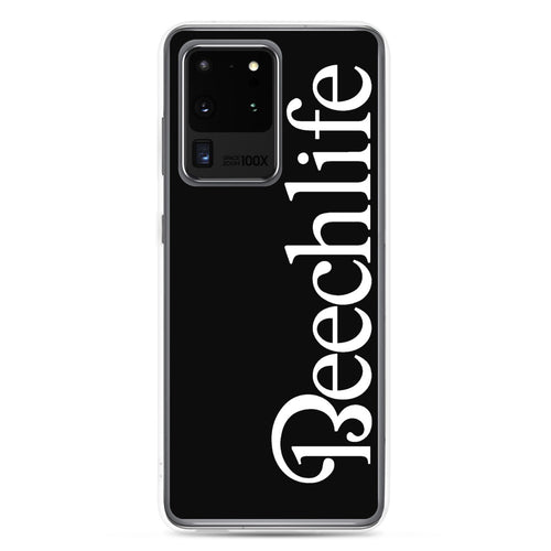 Black Beechlife Samsung (All S20 Versions) Phone Case - White Font
