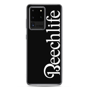 Black Beechlife Samsung (All S20, S9 Versions) Phone Case - White Font