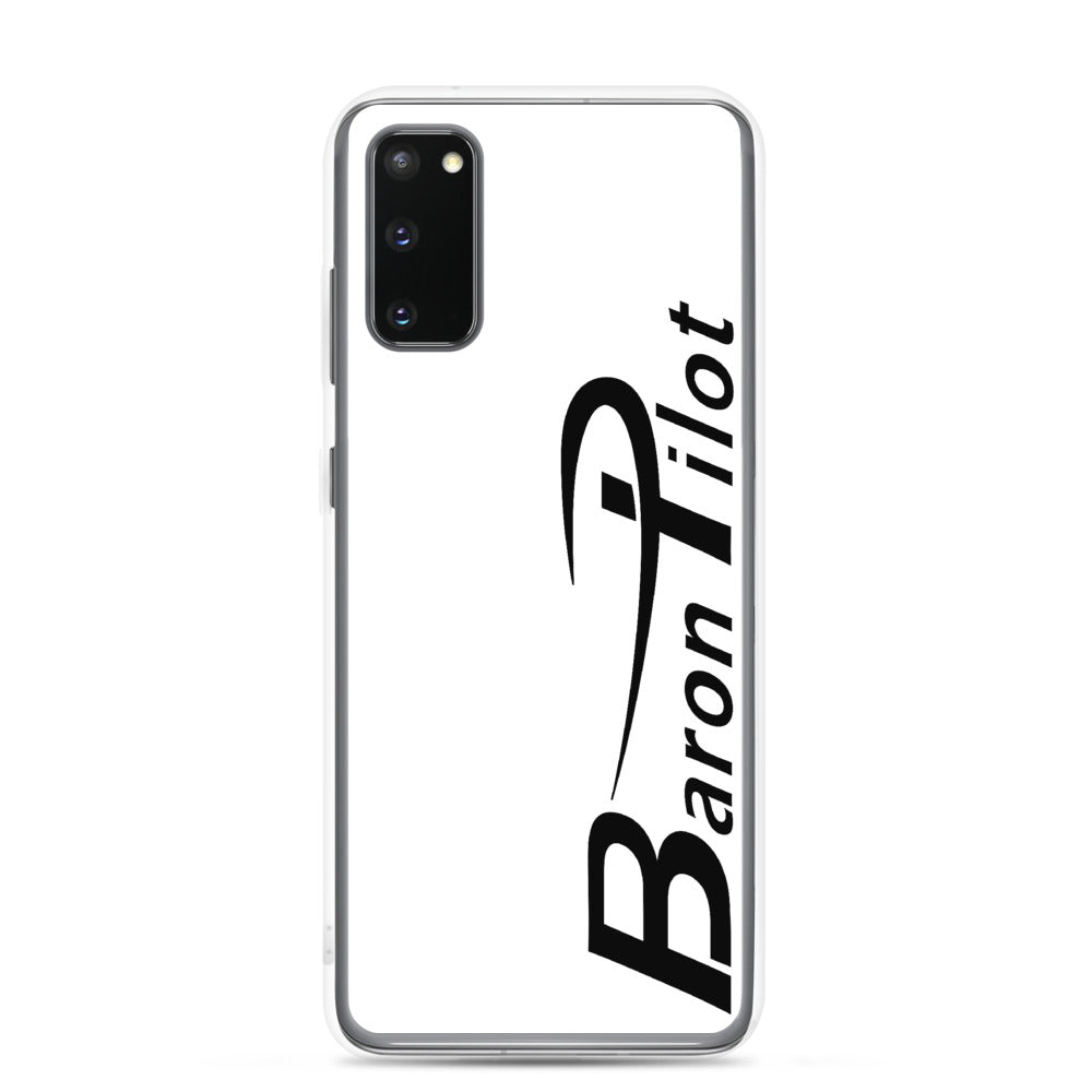 White Baron Pilot Samsung (All S20 Versions) Phone Case - Black Font