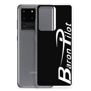 Black Baron Pilot Samsung (All S20 Versions) Phone Case - White Font