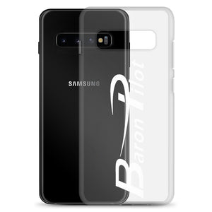 Clear Baron Pilot Samsung (All S10 Versions) Phone Case - White Font