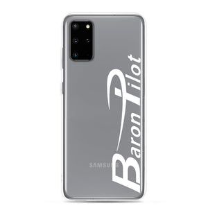 Clear Baron Pilot Samsung (All S20 Versions) Phone Case - White Font