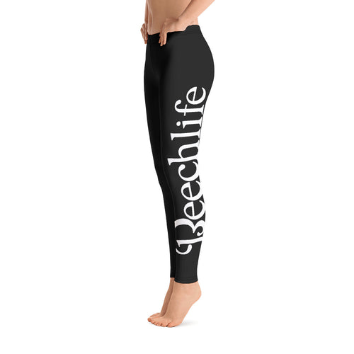 Black Beechlife Leggings Left Leg