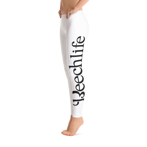 White Beechlife Leggings Left Leg