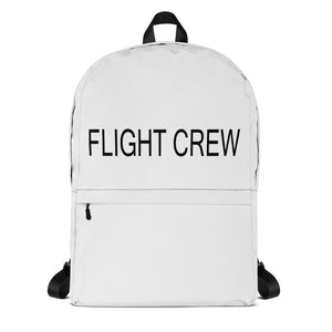 White Flight Crew Backpack