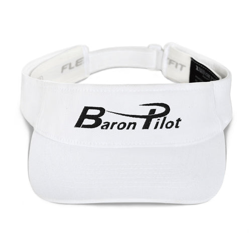 Embroidered White Baron Pilot Visor