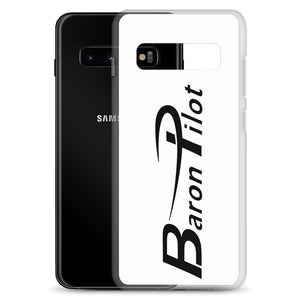 White Baron Pilot Samsung (All S10 Versions) Phone Case - Black Font