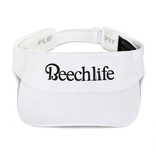 Embroidered White Beechlife Visor