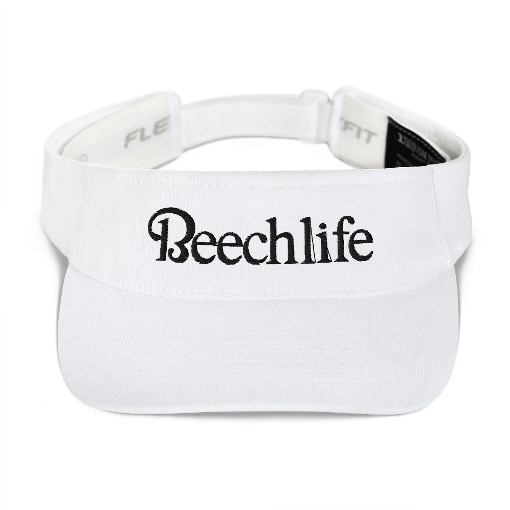 White Embroidered Beechlife Visor