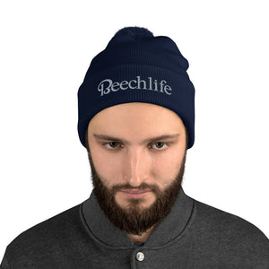Embroidered Beechlife Pom-Pom Beanie (More Colors)