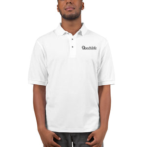 Embroidered White Beechlife Men's Premium Polo