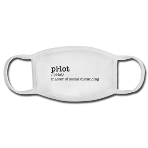 Definition of a Pilot Face Mask - white/white