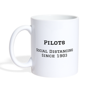 Pilots Social Distancing Coffee/Tea Mug - white