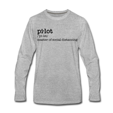 Definition of a Pilot Long Sleeve T-Shirt (More Colors) - heather gray