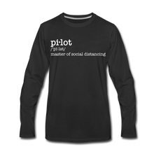 Definition of a Pilot Long Sleeve T-Shirt (More Colors) - black