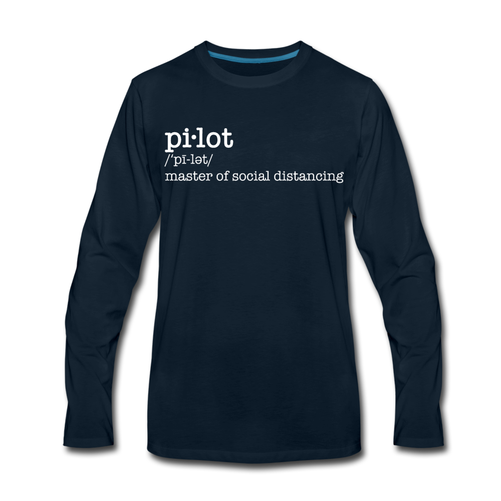 Definition of a Pilot Long Sleeve T-Shirt (More Colors) - deep navy